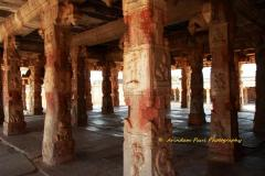 Pillars at the main hall of Krishna Temple