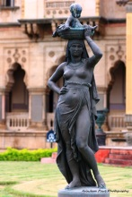 Statue Of Mother Carrying Baby Moses Courtsey: Laxmi Vilas Palace